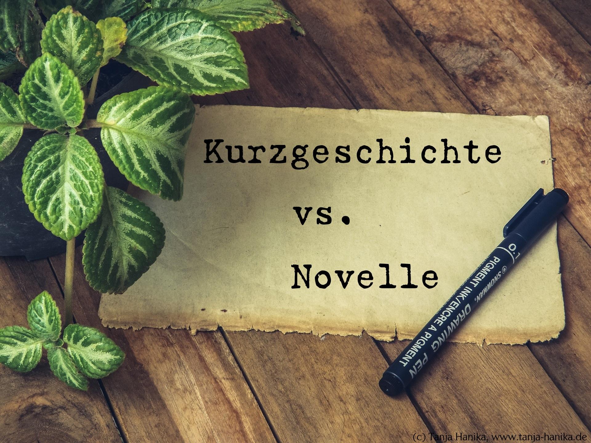 Kurzgeschichte vs. Novelle